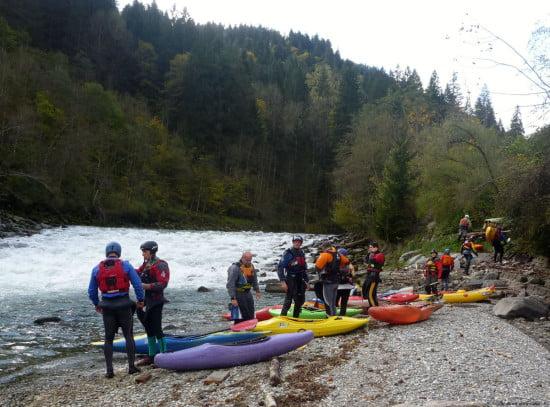 Beszálló a Salzach folyón.