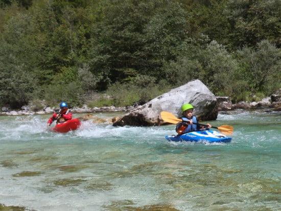 Sprenica szakasz, Soca folyó, Szlovénia.