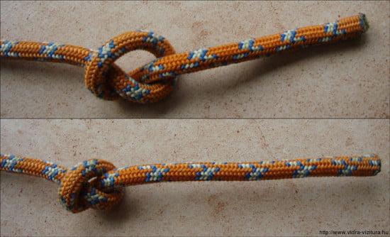 2.7. Egyszerű csomó, parasztcsomó, közönséges csomó - overhand knot