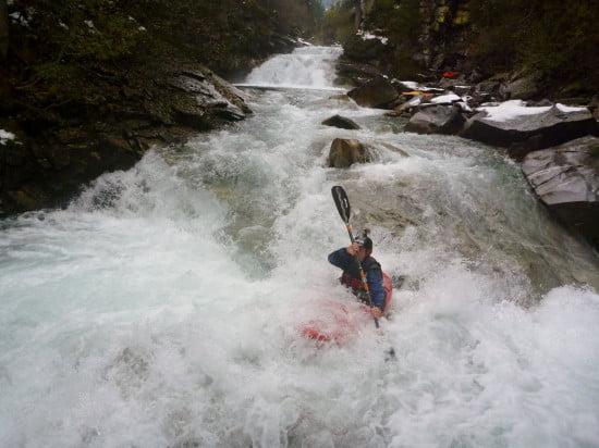 Második vízesés. Bal oldali vonalon indul Andrew.