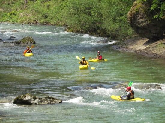 Savinja (Szlovéniában), kereskedelmi szakasz ilyen a river running kajakozás