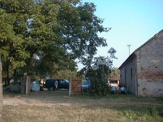 A Csákánydoroszlói Campus Camping táborhely bejárata.