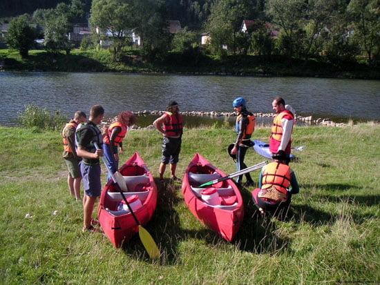 Jó beszállási lehetőség a folyó bal partján Stromowce Wyzne településen.