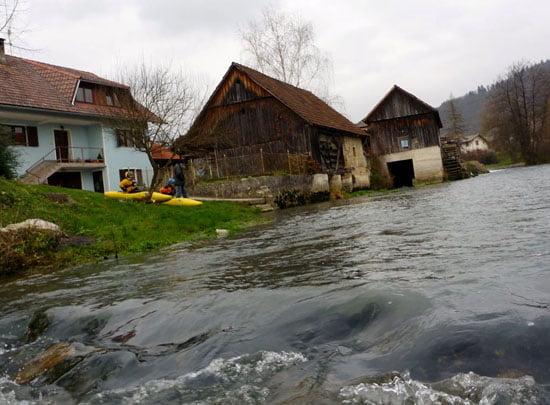 Beszálló Krka faluban.