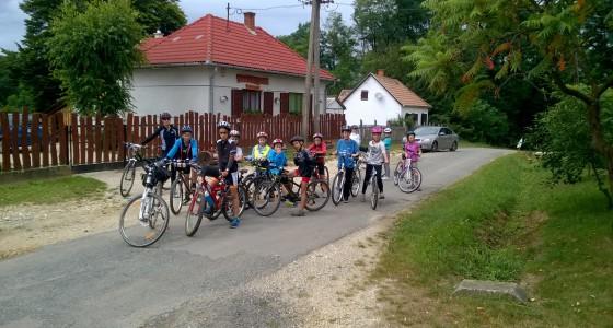 Kerékpáros tábor az Őrségben