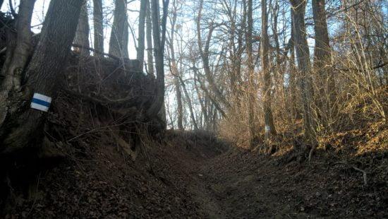 Ez a szűk ösvény vezet fel Lasztonya után.