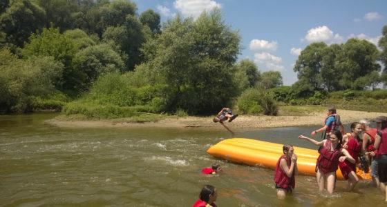 Rába családi és könnyű rafting túra